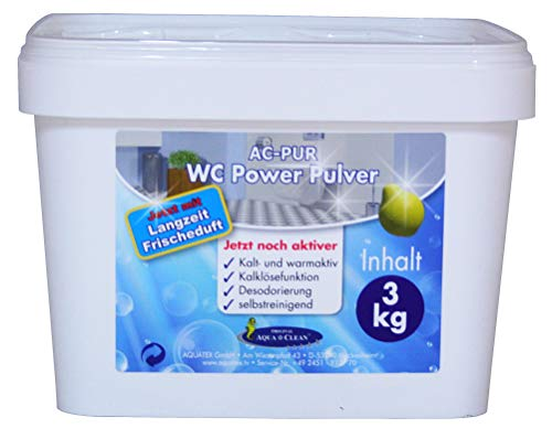AQUA CLEAN WC Power Pulver 3kg Neu mit Langzeit Frischduft - Schaum Pulver