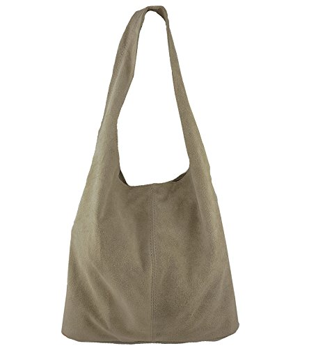 FreyFashion - Made in Italy, Borsa a spalla donna Beige
