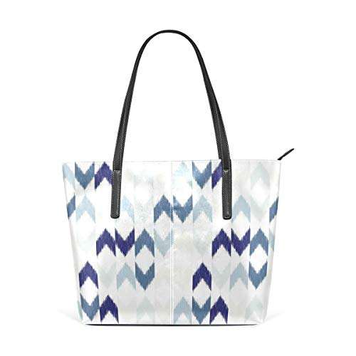 NR Multicolour Fashion Damen Handtaschen Schulterbeutel Umhängetaschen Damentaschen,Abstrakter ethnischer Ikat Chevron With Hazy Zickzack Folk Theme traditioneller Art Image
