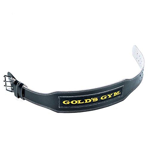 Golds Gym GG-G3722 - Cinturón Lumbar de Cuero