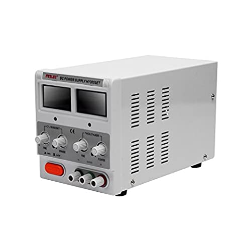 Variable Linear DC Bench Power Supply(0-30V,0-5A),HY3005ET Digital Regulated Adjustable DC Triple Linear Power Supply for Labs,Collages,Factory Production and Digital Repair Company