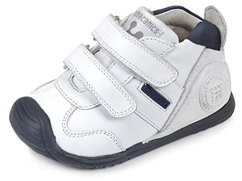 Biomecanics 151157, Zapatos de primeros pasos Unisex Bebés, Blanco (Blanco/Azul/Sauvage), 22 EU