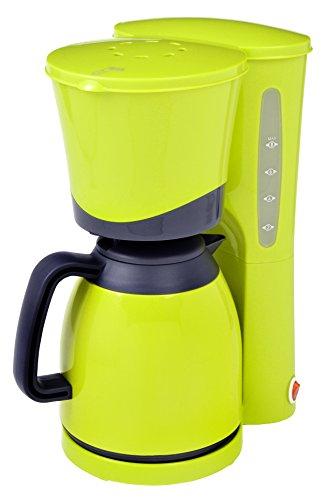 efbe-Schott Thermo-Kaffeemaschine, 1 l Fassungsvermögen, Thermokanne, Für bis zu 8 Tassen, 800 W, Lemongrün, SC KA 520.1 Lemon, Metall, Kunststoff, Glas, 1 Liter