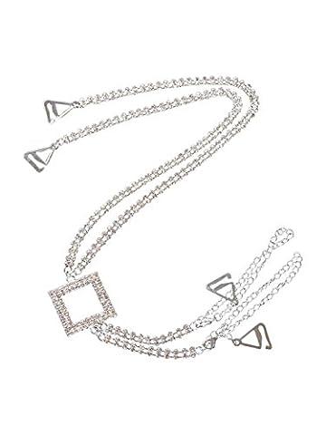 Classic Diamante Bra Straps Crossover Halter Design