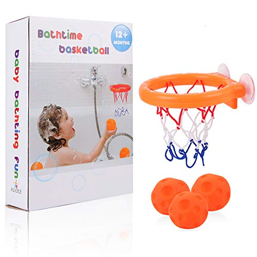Kids Basketball Hoop & Balls Set for Baby Bath Toys Creative Bathtub Shooting Game for Toddlers ,Suctions Cups Can Stick to Any Flat Surface Outdoor & Indoor Child Baby Gift (basketball hoop&balls)
