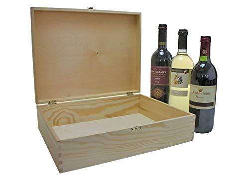 UTI GmbH Weinkiste mit Klappdeckel - Flaschenkiste - Weinbox - Holzkiste - Geschenkbox - B-Ware