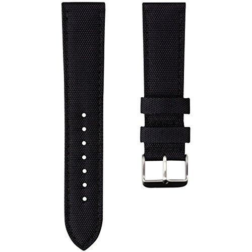 geckotar-nylon-canvas-fabric-padded-durable-sport-watch-strap-black-20mm