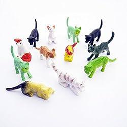 Cat Pet Animals Toy Figures (12 Count)