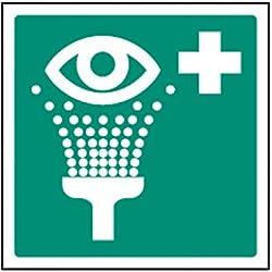 Caledonia signos 26026u lavaojos de emergencia símbolo Sign, vinilo autoadhesivo, 100mm x 100mm