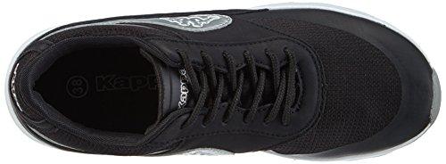 Kappa MILLA Damen Sneakers Schwarz (1115 BLACK/SILVER)