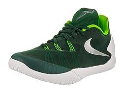 Nike Unisex Hyperchase TB Grg Grn/Mtllc Slvr White Elctr Basketball Shoe 8 Men US / 9. 5 Women US