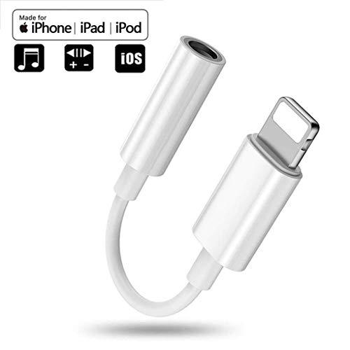 Adattatore per cuffie Dongle per iPhone da 7 a 3,5mm Adattatore per cuffie per cuffie Accessori audio Aux per iPhone X 8 / 8Plus 7 / 7Plus Supporto per cuffie per cuffie iOS 12 o versioni successive