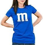 style3 m Damen T-Shirt für Fasching und Karneval Gruppen-Kostüm Paar-Verkleidung JGA Party, Farbe:Blau, Größe:2XL
