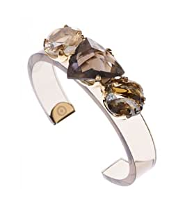 Ted Baker Jocasta: Glass Stoned Acrylic Cuff in Light Brown