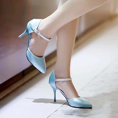 Da donna-Tacchi-Ufficio e lavoro Casual-Comoda-A stiletto-PU (Poliuretano)-Nero Blu Rosa LIGHTBLUE