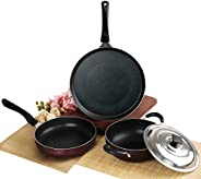 Cello Prima Solitaire Series Non Stick 3Pc Cookware Set, Gas Stove Compatible only
