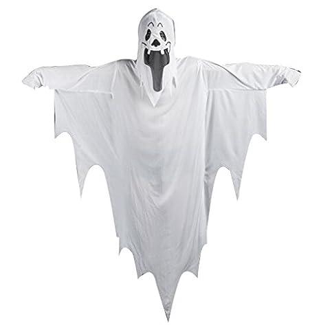 Masterein Adultes Hommes Enfants Ghost Devil Vampire Ghost Cosplay Costume Halloween Party Costumes Fancy Dress