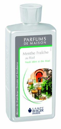 Lampe Berger 115121 Recharge parfum de maison pour lampe à parfum Menthe Fraîche au Riad 500 ml