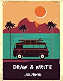 Draw & Write Journal: Diary Stories Writing Lined Diary Notebook with Blank Drawing Boxes, Write and Doodle, Drawing Notepad Book