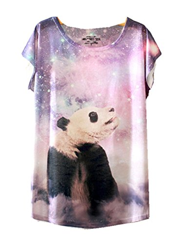 YICHUN Damen T-Shirt Mehrfarbig mehrfarbig One size Panda 8#