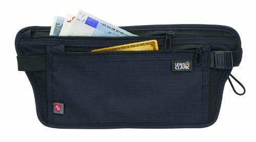 rfid-blocking cintura Stash antirrobo oculto cinturón de dinero, negro, un tamaño
