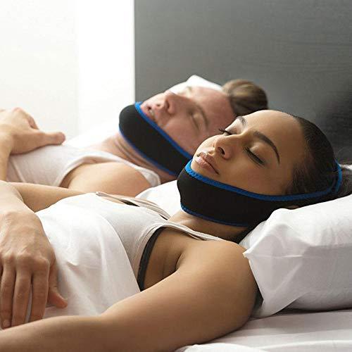 Anti Schnarchen Kinnriemen, bestes Schnarch-Gerät, verstellbarer Schnarch-Reduktionsgürtel, Schlafhilfe