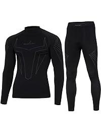 X-shock BodyDry hombres calzoncillos largos térmicos para nieve y deportes de Motor Negro negro Talla:mediano