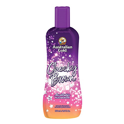 Bronzer Indoor Tanning Lotion (Australian Gold Cheeky Brown Accelerator with Bronzer and Herbal Extracts 250ml)