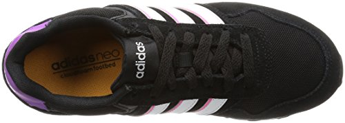 adidas 10k W, Chaussures de Sport Femme, Multicolore Noir (Negbas / Ftwbla / Pursho)