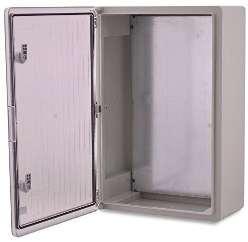 BOXEXPERT Caja de armario mural 600x400x200mm IP 65 gris RAL7035 transparente Caja de distribución...