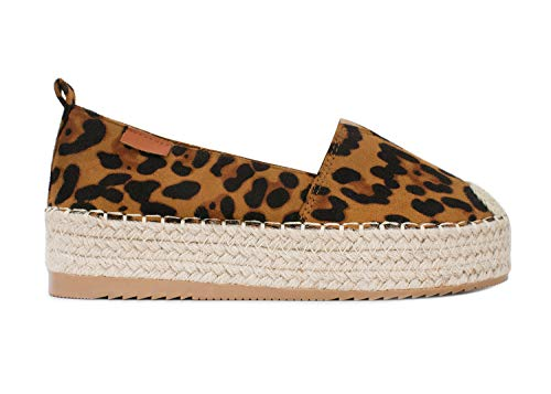 Animal-print-plattform (VISSTEME Espadrilles Damen Plattform Animal Print)