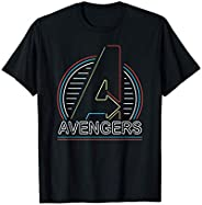 Marvel Avengers Logo in Neon Lights Maglietta