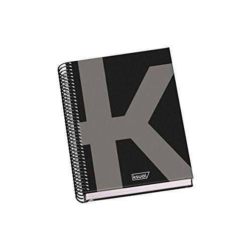 DOHE 44990 Ksual DIN A5 Spiralbuch, 100 Blatt, schwarz
