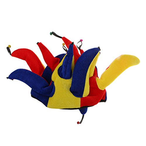 MagiDeal Narrenkappe Narrenmütze Harlekin Hut Narren Mütze Kappe Karneval