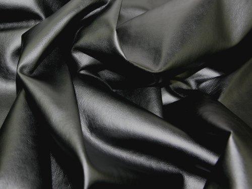 h-PVC-leathercloth Stoff, Meterware, Schwarz (Billig Und Einfach Fancy Dress)