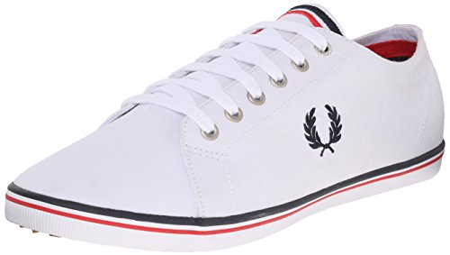 Fred Perry Kingston Twill, Escarpins À Lacets Oxford Uomo Blanc