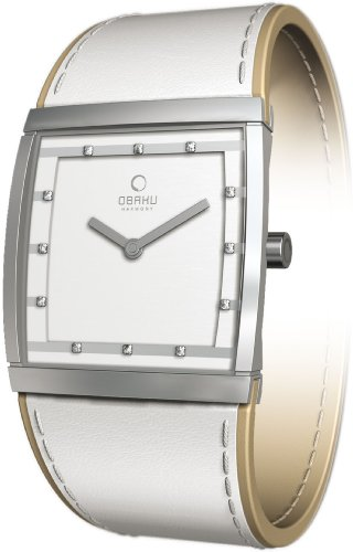Obaky By Ingersoll Ladies White Leather Strap Watch