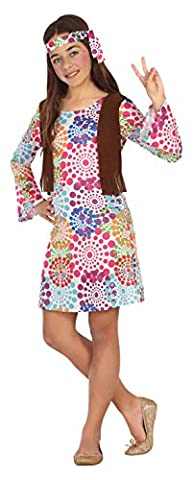 Costumes Fille Hippie - Atosa 20687 –, fille Costume Hippie, Taille