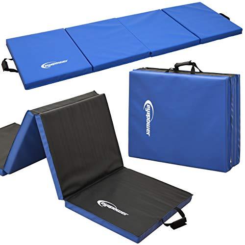 Eyepower XL Gymnastikmatte 200x60x5cm Turnmatte Sportmatte Weichbodenmatte Blau