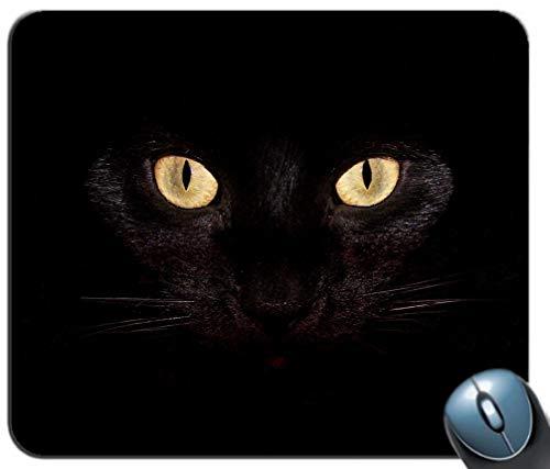 Mauspad Cat Dark Eyes Pattern Mauspad Gaming MousePad Mauspad für den PC