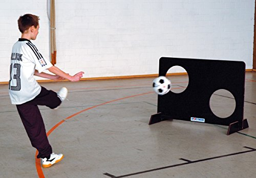 Sport-Thieme Kinder Torwand | Robust, Stabil, Standsicher | Aus Eigener Fertigung - Made in Germany | Filmbeschichtetes Birkenholz | Indoor & Outdoor | BxH 124x82 cm