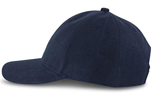 fashionchimp ® Baseball Basic-Cap in verschiedenen Uni-Farben, Unisex 6-Panel Cap (Dunkelblau)