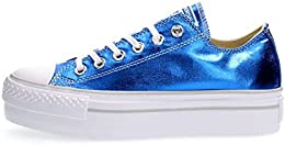 converse platform blu basse
