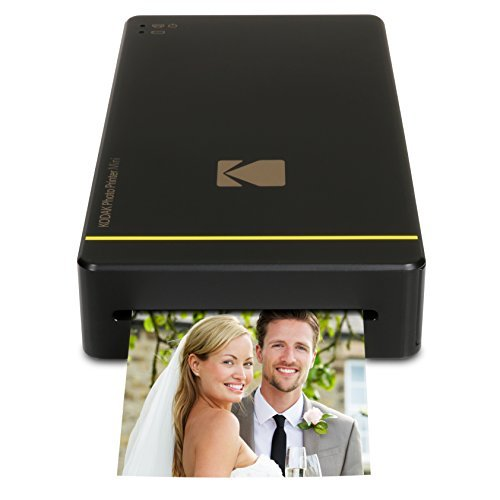 Kodak KPM-210B Photo Printer Mini für Apple iPhone und Android schwarz