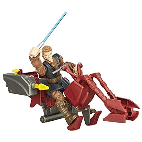 Star Wars – Hero Mashers – Action Figur - Anakin Skywalker Figur & Jedi Speeder (1 Anakin Skywalker Action-figur)