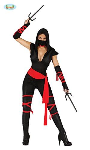 KOSTÜM - NINJA KÄMPFERIN - Größe 36-38 (S), Geheimbund Japan Asien Kämpfer (Ninja Girl Kostüme)