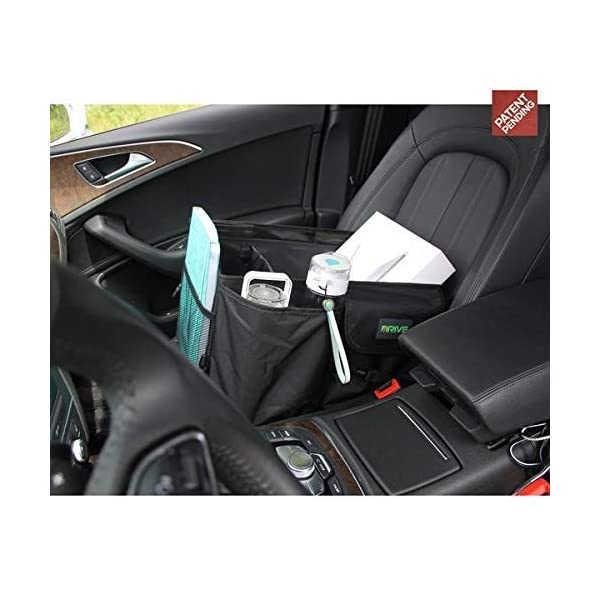 Drive Auto Products Car Organiser (Black) - Storage with Tie Down Straps, Best for Tidy Auto Organization & Boot… 5