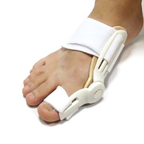 Huayang Silikon Gel Fuß Zwei Zehen Separator Hallux Valgus Korrektor Glätteisen Orthese (weiß)