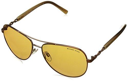 Michael Kors Unisex MK5014 Sabina III Sonnenbrille, Braun (Brown 10915N), One size (Herstellergröße: 59)