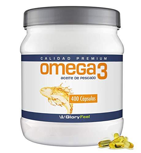 Omega 3 de Aceite de Pescado - 1000 mg - 400 Cápsulas de Omega 3 - Gran Potencia - Acidos...